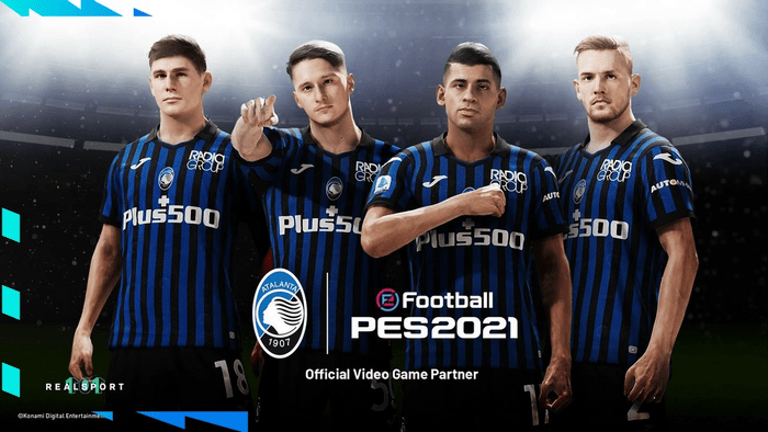 Atalanta prima squadra esclusiva confermata da Konami per PES 2022